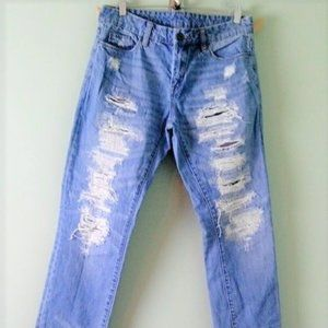 Blank NYC size 27 waist destroyed jeans